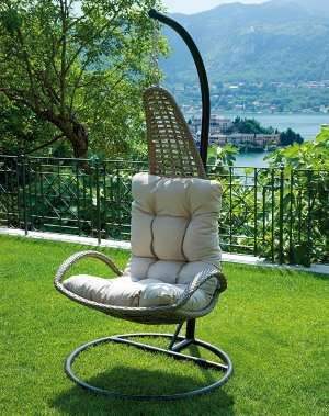 un fauteuil de jardin suspendu pour oublier le stress. Black Bedroom Furniture Sets. Home Design Ideas